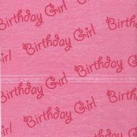 Pink Birthday Girl Patterned Tissue Wrapping Paper ~ Small Sheets ~ 50cm x 37.5cm